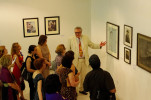 Robert McPhearson leads a tour at the Museum Of Contemporary Art, Macedonia, Skopje, 2012