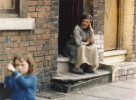 Elderly lady in a doorway - Manchester 1965