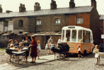 Ice cream van on a terraced street - Manchester 1965