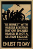 BE HONEST WITH YOURSELF ... ENLIST TODAY