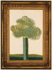 PICTURE OF A LANDSCAPE IN AN ELABORATE GOLD FRAME