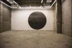 Mohammed Qasim Ashfaq, BLACK SUN, site specific graphite drawing, 2017
