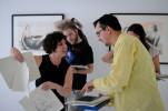 Sarah Gillett's printmaking workshop in Montenegro, 2013.
