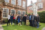 The delegation outside Wilberforce House Museum, Hull