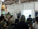 Matthew de Pulford, the curator of Whitstable Biennale explains about his program and the artists he represents to artists at the Sarinah Ecosystem Warehouse