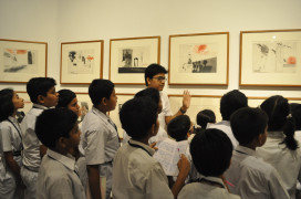 A school's tour of the exhibition
