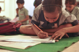 Children's drawing session
