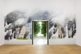 'St Helier on Fire 2017' Painted by Stuart Sam Hughes, British Pavilion 2013