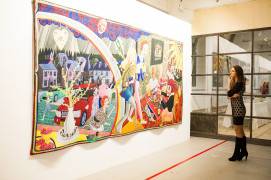 Installation of the exhibition of Grayson Perry: The Vanity of Small Diffference at Izolyatsia, Kyiv, Ukraine, 2017