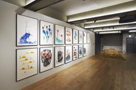 David Shrigley: Lose Your Mind, 2016. Installation at Storage by Hyundai Card, Seoul, Korea.