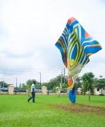 Wind Sculpture VI, Yinka Shonibare, installed in Ndubuisi Kanu Park in Ikeja, Lagos