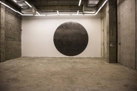 Mohammed Qasim Ashfaq, BLACK SUN, site specific graphite drawing, 2017