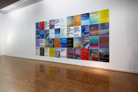 Installation view of pro-EU anti-Brexit Poster Campaign, 2016 by Wolfgang Tillmans. The Art of Dissonance, Seoul Museum of Art, 2017