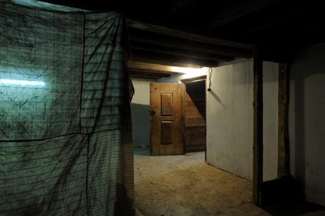 Inside the British Pavilion installation, 2011