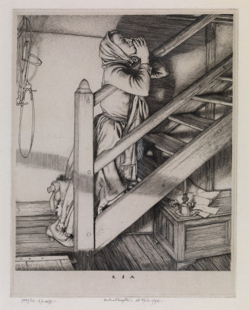 Girl on the stairs