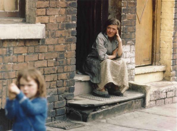 Eldery lady in doorway