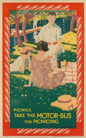 TAKE THE MOTOR BUS FOR PICNICING