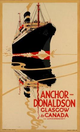 ANCHOR DONALDSON GLASGOW TO CANADA VIA LONDONDERRY