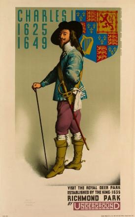VISIT THE ROYAL DEER PARK.  ESTABLISHED BY THE KING 1635 RICHMOND PARK
