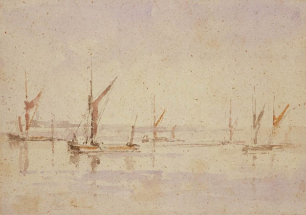 BARGES AT ANCHOR