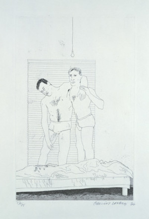 'ONE NIGHT' FROM ILLUSTRATIONS FOR FOURTEEN POEMS FROM C.P. CAVAFY 1966-67