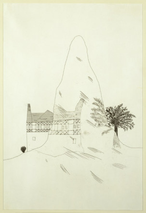 'THE GLASS MOUNTAIN' FROM ILLUSTRATIONS FOR SIX FAIRY TALES FROM THE BROTHERS GRIMM 1969