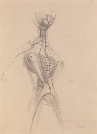 DRAWING FOR SCULPTURE (FIGURE)