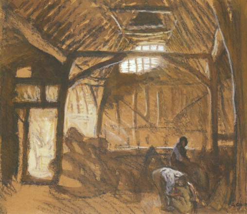 INTERIOR OF A BARN