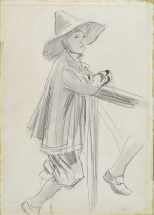 BOY IN A LARGE HAT