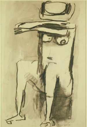 SEATED FIGURE WITH FOLDED ARMS