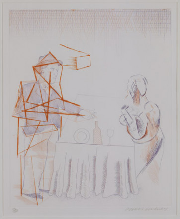 'FIGURE WITH STILL LIFE' FROM THE BLUE GUITAR (PORTFOLIO OF TWENTY PRINTS) 1976-77