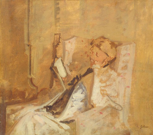 ARTIST'S MOTHER READING