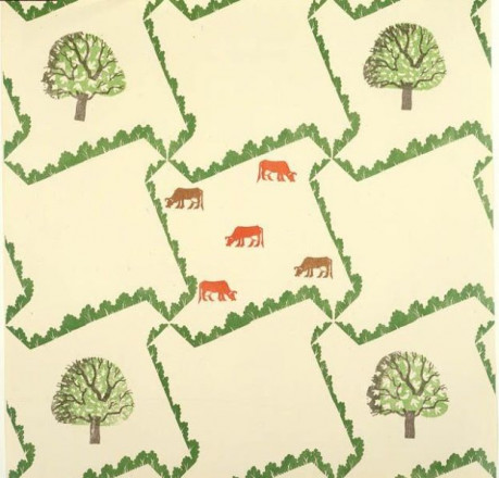 WALLPAPER 'TREE AND COW'