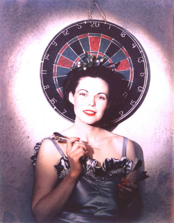 UNTITLED (GIRL WITH DARTBOARD)