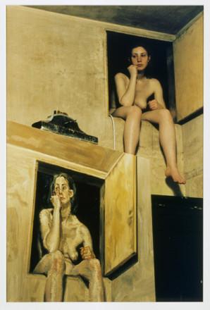 GIRL IN ATTIC DOORWAY