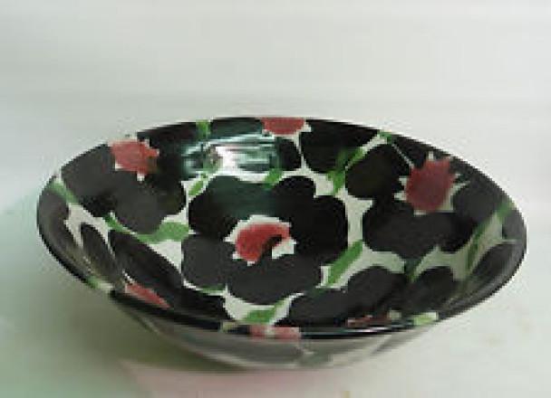 Black rose bowl