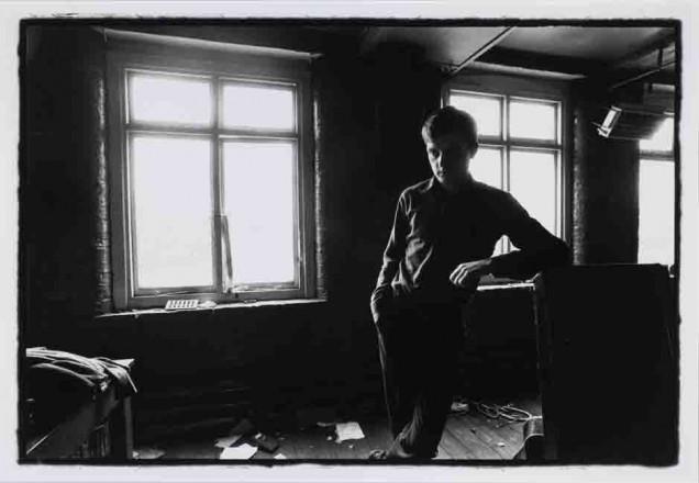 IAN CURTIS.  JOY DIVISION.  TJ DAVIDSON'S REHEARSAL ROOM, LITTLE PETER STREET, MANCHESTER, 19 AUGUST 1979