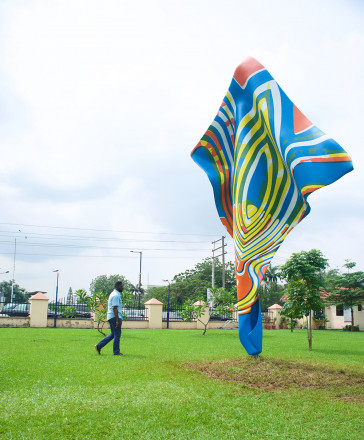 Wind Sculpture VI, Yinka Shonibare, installed in Ndubuisi Kanu Park in Ikeja, Lagos