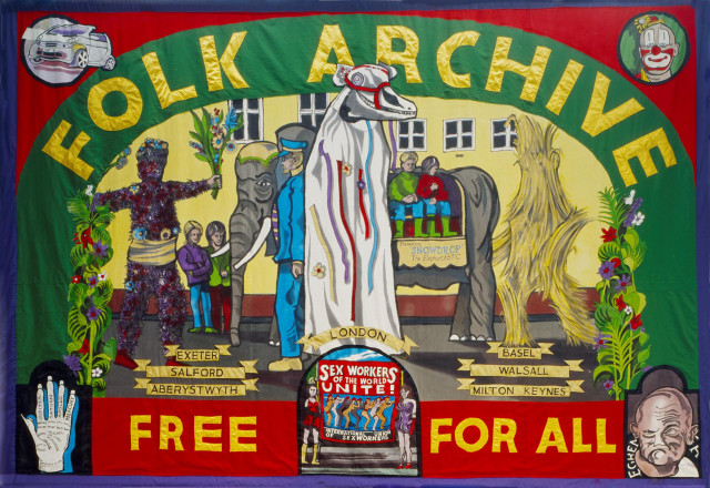 Alan Kane and Jeremy Deller 'Folk Archive Banner by Ed Hall' 2005