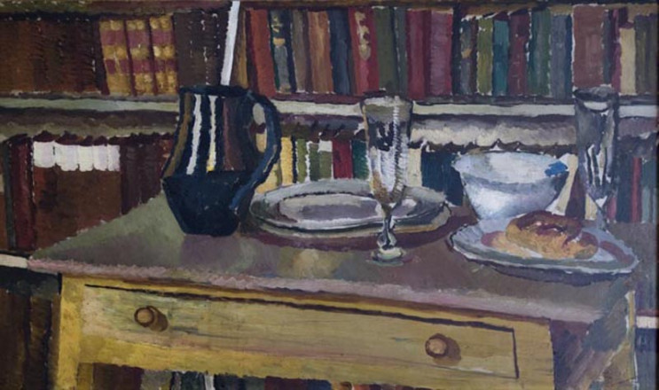 STILL LIFE WITH BOOKCASE