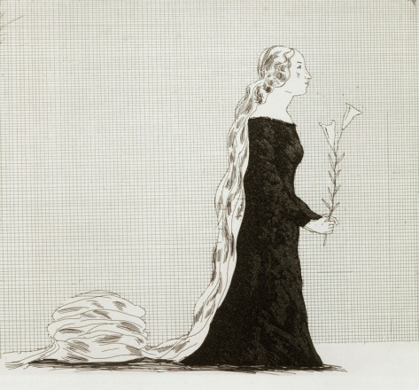 'THE OLDER RAPUNZEL' FROM ILLUSTRATIONS FOR SIX FAIRY TALES FROM THE BROTHERS GRIMM 1969