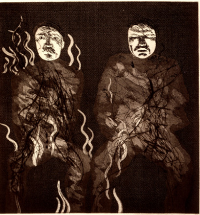 'CORPSES ON FIRE' FROM ILLUSTRATIONS FOR SIX FAIRY TALES FROM THE BROTHERS GRIMM 1969