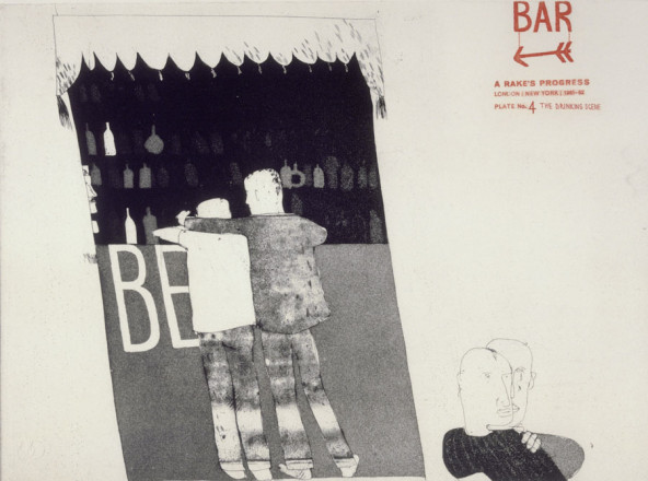 'THE DRINKING SCENE' FROM A RAKE'S PROGRESS (PORTFOLIO OF SIXTEEN PRINTS) 1961-63