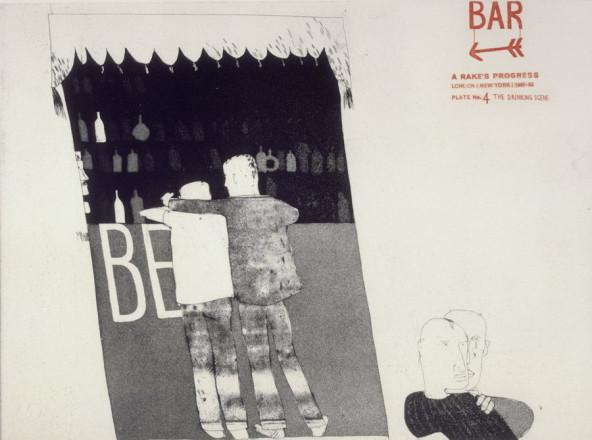 'THE DRINKING SCENE' FROM A RAKE'S PROGRESS (PORTFOLIO OF SIXTEEN PRINTS) 1961-63