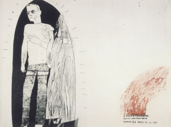 'MARRIES AN OLD MAID' FROM A RAKE'S PROGRESS (PORTFOLIO OF SIXTEEN PRINTS) 1961-63