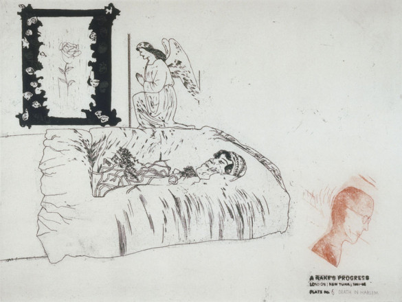 'DEATH IN HARLEM' FROM A RAKE'S PROGRESS (PORTFOLIO OF SIXTEEN PRINTS) 1961-63