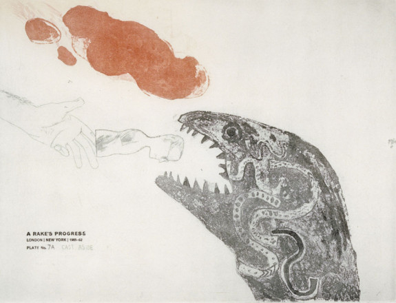 'CAST ASIDE' FROM A RAKE'S PROGRESS (PORTFOLIO OF SIXTEEN PRINTS) 1961-63