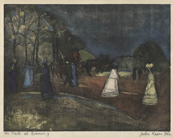 THE PARK AT EVENING