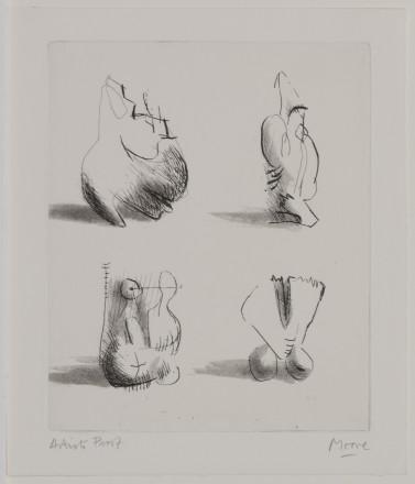 Moore, Henry - P5072 Four Sculpture Motives _Image©British Council (Photo by Simon Difazio)