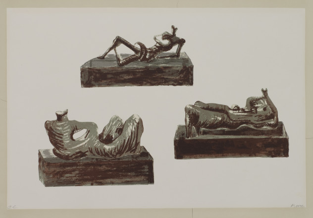 Moore, Henry - P5214 Three Reclining Figures on Pedestals_Image©British Council (Photo by Simon Difazio)